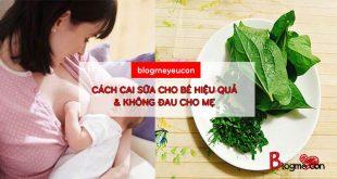 Cách cai sữa nhanh cho bé và không đau cho mẹ