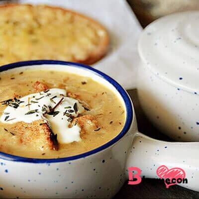 món súp bánh mỳ sữa cho bé ăn dặm