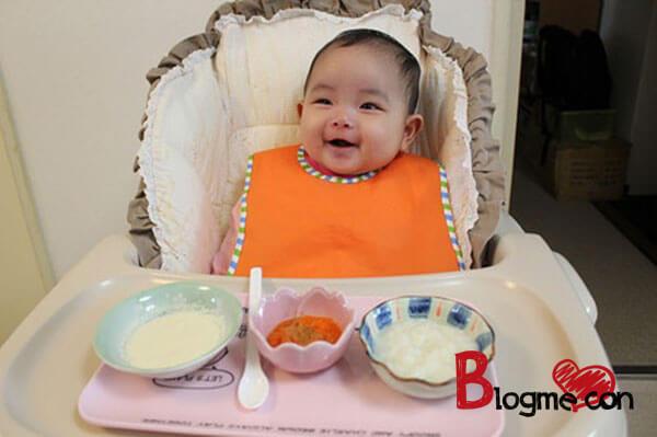 thực đơn ăn dặm kiểu nhật cho bé 6 tháng tuổi