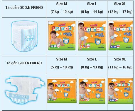 Bỉm Goo.N Friend cho trẻ