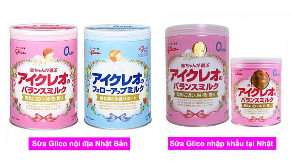 nên mua sữa glico nội địa và nhập khẩu