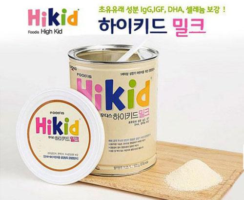 Cách pha sữa Hikid Hàn Quốc