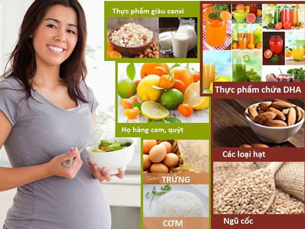 Dinh dưỡng cho mẹ bầu tháng thứ 7