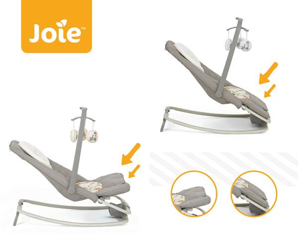2 vị trí ngả chân trên ghế rung Joie