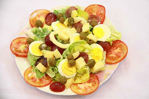 Món Salad trứng ngỗng