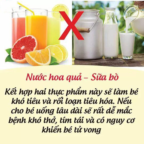 Nước hoa quả - Sữa bò