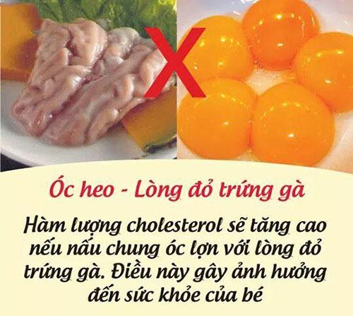 Óc heo - Lòng đỏ trứng gà