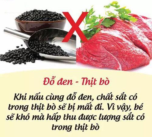 Đỗ đen với thịt bò