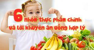 6 nhóm thực phẩm chính cho bé