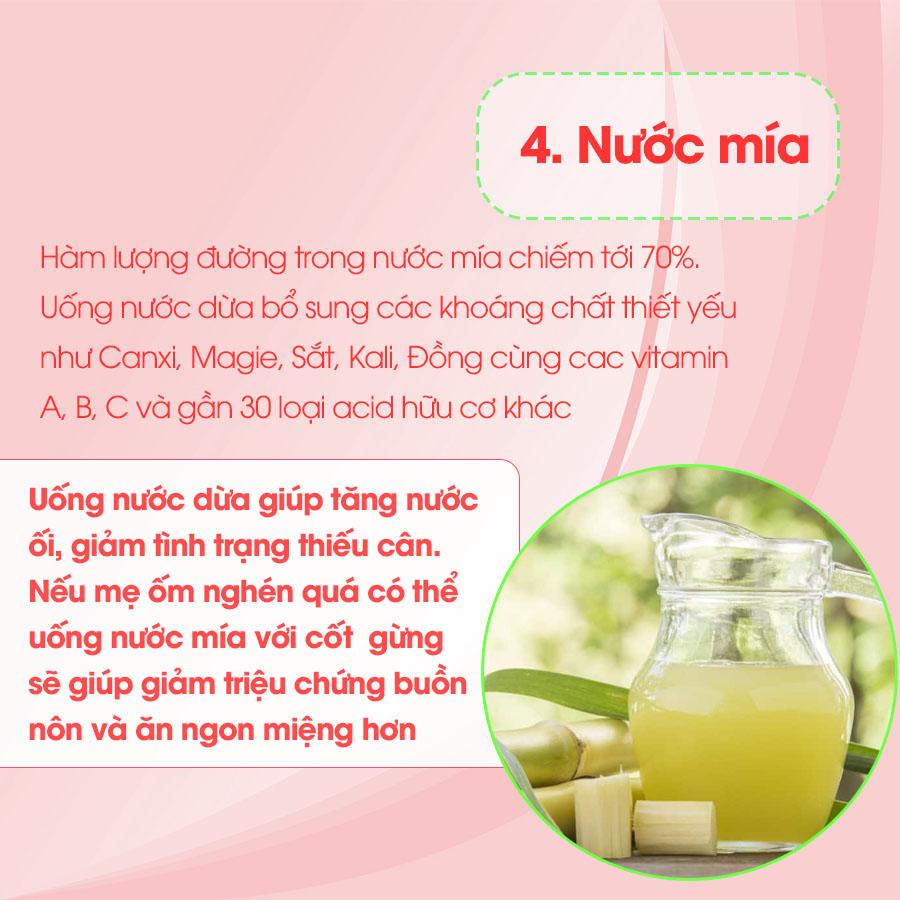 Uống nước mía tốt cho phụ nữ mang thai