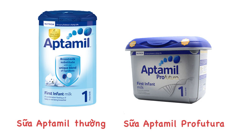Phân biệt sữa Aptamil thường và Profutura