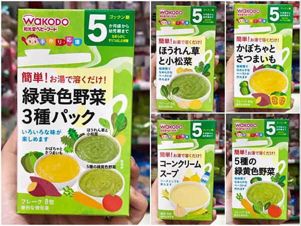 Bột ăn dặm Wakodo vị ngọt Nhật Bản