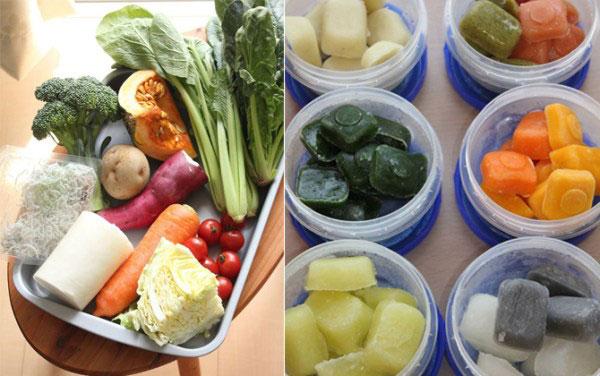 đảm bảo lượng rau cho bé