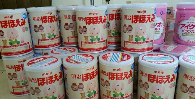 sữa Meiji nội địa Nhật Bản