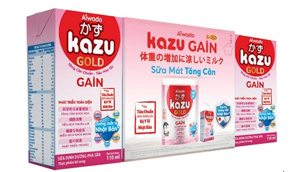 Sữa Kazu Gain Gold số 2 hộp pha sẵn tiện lợi cho bé