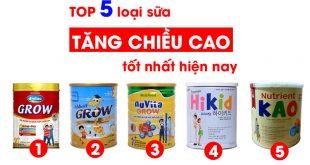 sữa tăng chiều cao tốt nhất cho bé