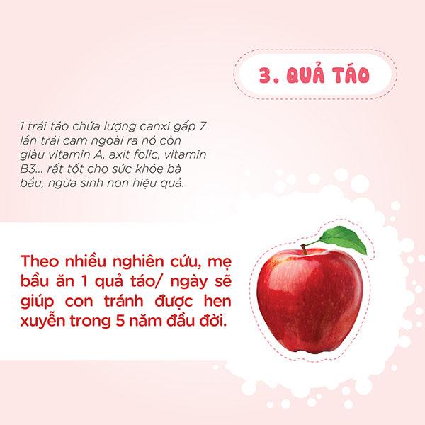 Quả táo tốt cho phụ nữ mang thai