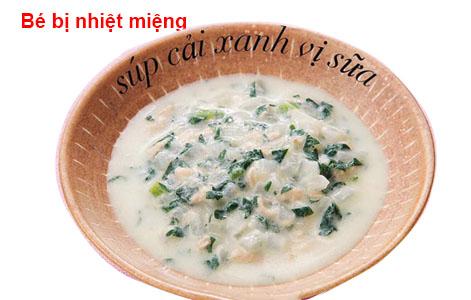Món súp cải xanh vị sữa