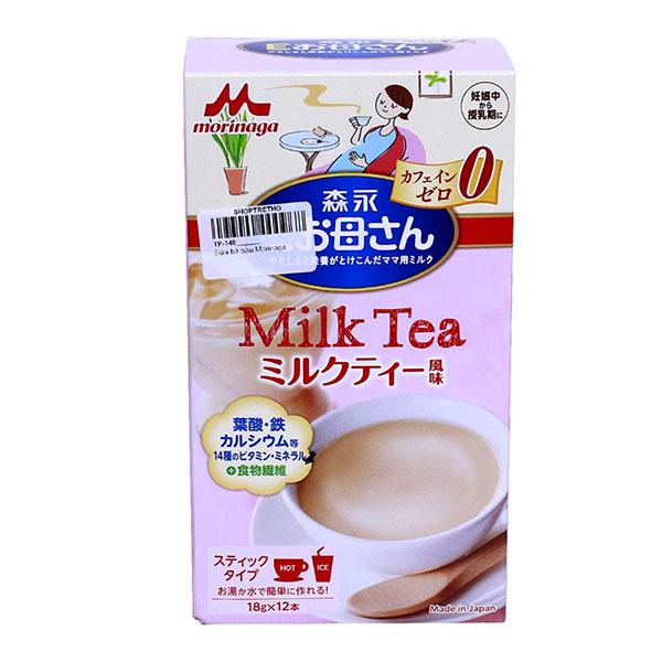 Cách pha sữa bầu Morinaga vị trà sữa