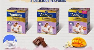 Sữa dành cho bà bầu Anmum có 3 hương vị đặc trưng là vị xoài, vani, socola.