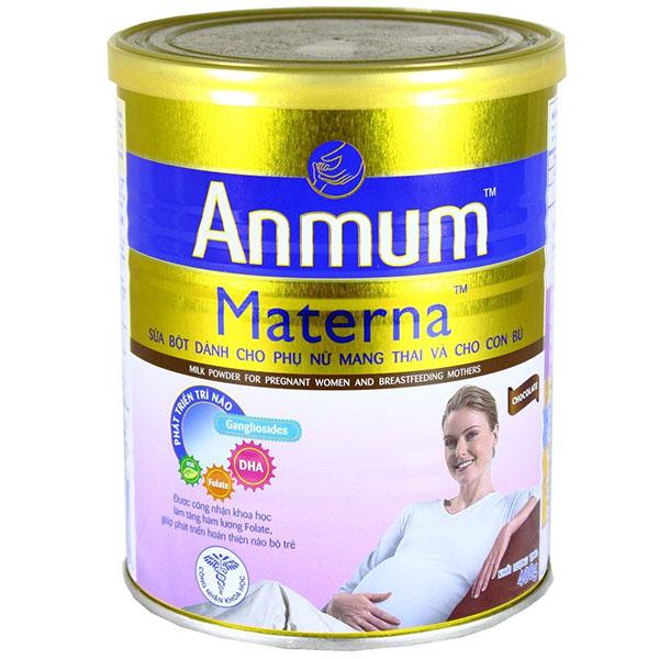 Sữa bầu Anmum Materna có dưỡng chất cân bằng khá chuẩn