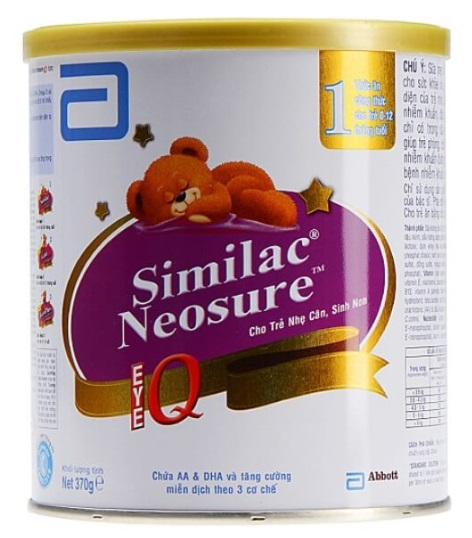 Sữa bột Similac Neosure - Sữa Similac cho trẻ sơ sinh 0-12 tháng