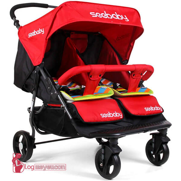 Xe đẩy đôi em bé Seebaby T22