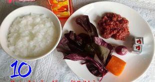 thực đơn ăn dặm với thịt bò thơm ngon bổ dưỡng