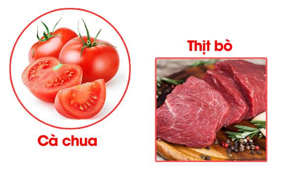 Cháo thịt bò cà chua