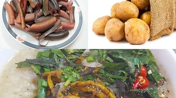 Cháo lươn khoai tây cho bé ăn dặm