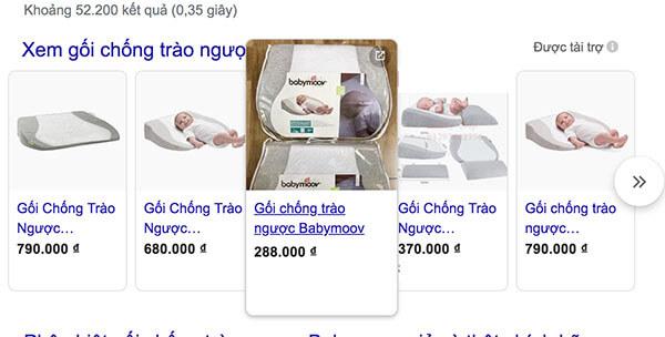 Gối chống trào ngược Babymoov giả được bán với giá rất rẻ