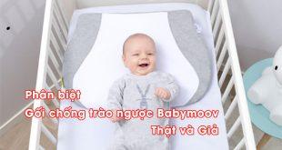Hướng dẫn phân biệt gối chống trào ngược Babymoov thật và giả