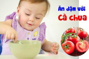 Các món ăn dặm với cà chua cho bé