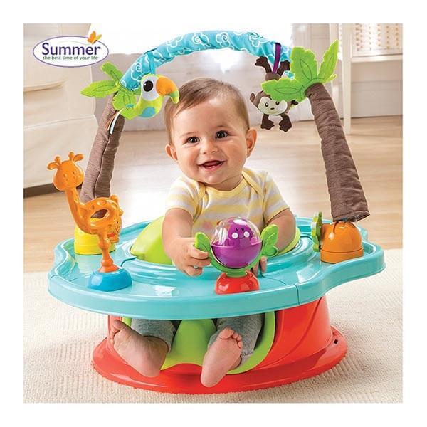 Ghế Tập Ngồi 3 Giai Đoạn Có Thanh Đồ Chơi Summer Infant