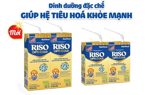 Sữa pha sẵn Riso Opti Gold cho bé từ 1 tuổi trở lên