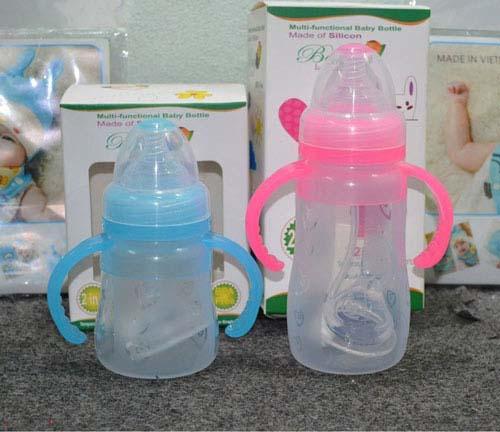 Bình sữa Silicon Baby Love cao cấp được sản xuất trên dây truyền công nghệ Châu Âu