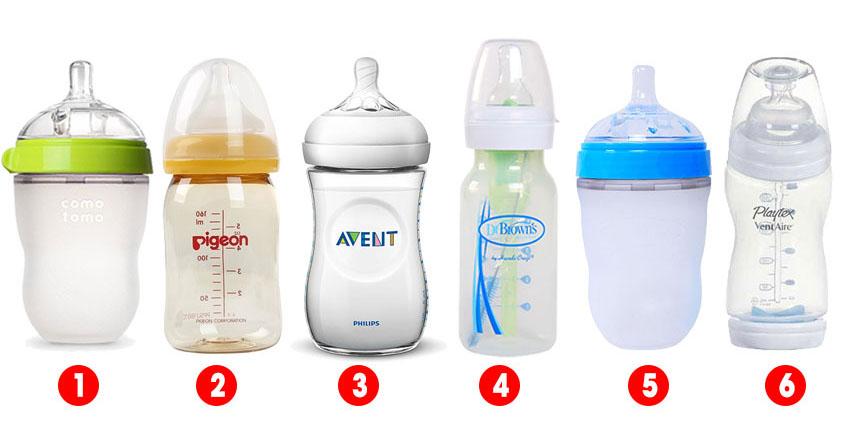 Chọn bình sữa chống sặc Nhật Bản cho bé