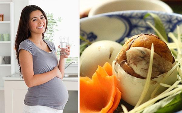 Phụ nữ mang thai có nên ăn trứng vịt lộng không?