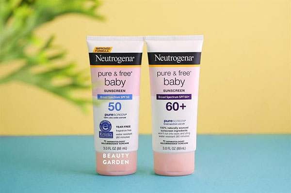Kem chống nắng Neutrogena Pure & Free Baby Sunscreen Broad Spectrum SPF 50+