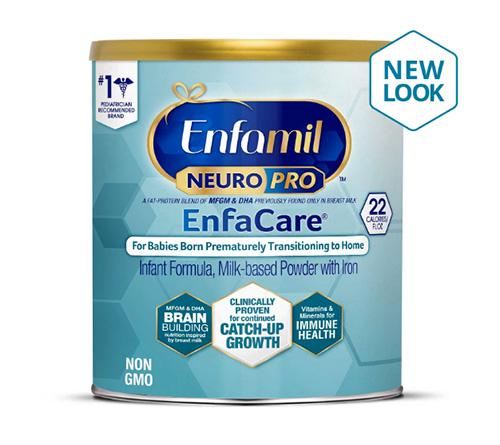 Sữa EnfamilEnfacare màu xanh ngọc cho trẻ sinh non