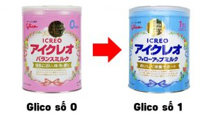 Khi nào nên chuyển từ sữa Glico số 0 sang số 1 cho bé?