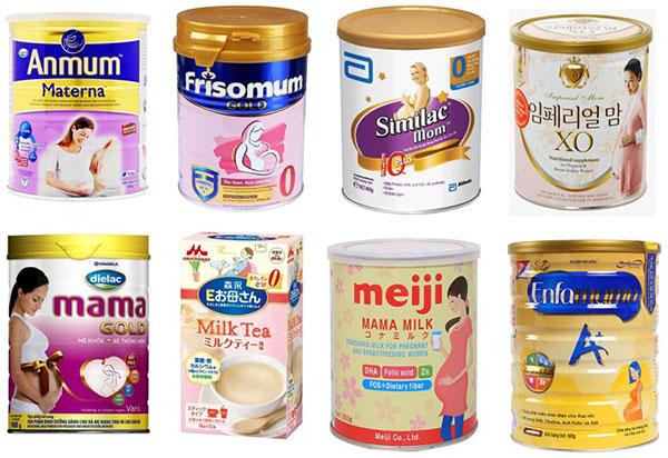 Các loại sữa dành riêng cho bà bầu