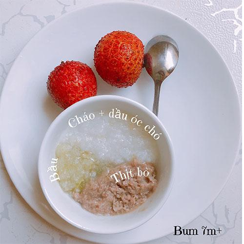 Thực đơn ăn dặm BLW kết hợp kiểu Nhật cho bé 7 tháng tuổi 1