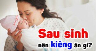 Phụ nữ sau sinh nên kiêng ăn gì (1)