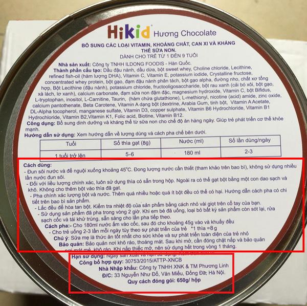 Hướng dẫn pha sữa Hikid Hàn Quốc đúng cáchHướng dẫn pha sữa Hikid Hàn Quốc đúng cách