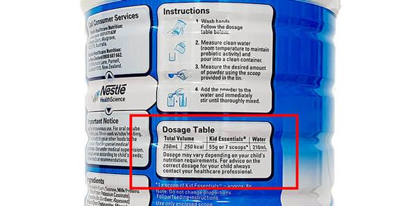 Công thức pha sữa Kid Essentials đúng chuẩn (1)