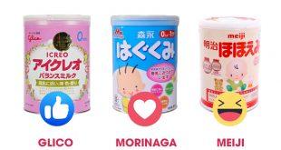 So sánh sữa Glico, Morinaga và Meiji Nhật Bản