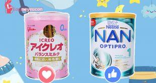 So sánh sữa Glico và sữa Nan