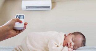 Trẻ sơ sinh có nên nằm điều hoà không?