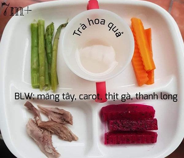 Thực đơn ăn dặm BLW kết hợp truyền thống 1